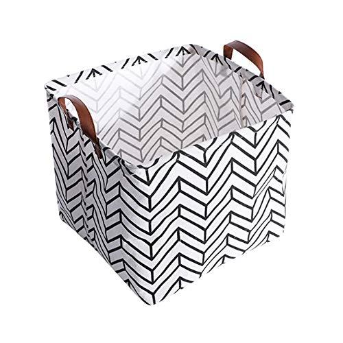Qlans Square Fabric Storage Basket Bins - Organizer für Spielzeug, Decken, Kleidung -