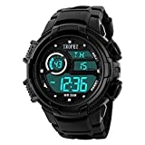 Tropez Multifunction LED Digital Shock Resistant Sports Unisex Sports Wrist Watch - Black