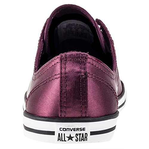 Converse Donne Sneaker Chuck Taylor Tutte le stelle Dainty Low Ox Dark Sangria White Black Dark Sangria White Black