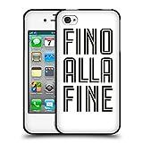 Head Case Designs Offizielle Juventus Football Club Fino Alla Fine Weiss Typ Soft Gel Hülle Schwarz für Apple iPhone 4/iPhone 4S