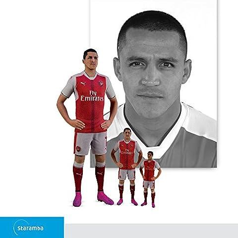 Staramba Alexis Sánchez figurine 3D - FC Arsenal Home 16/17 1:10 (16.90 cm)