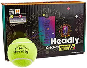 Silver's Headly Heavy Cricket Tennis Ball, Pack of 6 (Yellow)