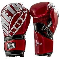 Metal Boxe MB777RSR - Guantes de boxeo para entrenamiento, color rojo, talla 12 oz