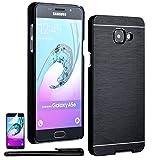 Custodia Bumper per - Samsung Galaxy A5 (2016) - Cover in Alluminio spazzolato Cellulare Flip Case Prottetiva in NERO