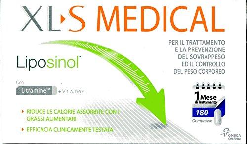 XL-S Liposinol Prodotto per il Trattamento del Sovrappeso, 1 Mese, 180 Compresse