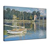 Bilderdepot24 Kunstdruck - Alte Meister - Claude Monet - Brücke von Argenteuil - 50x40cm Einteilig - Leinwandbilder - Bilder als Leinwanddruck - Bild auf Leinwand - Wandbild