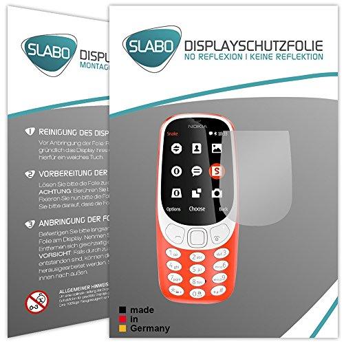 Slabo 2 x Displayfolie für Nokia 3310 (2017) Displayschutzfolie Zubehör No Reflexion MATT
