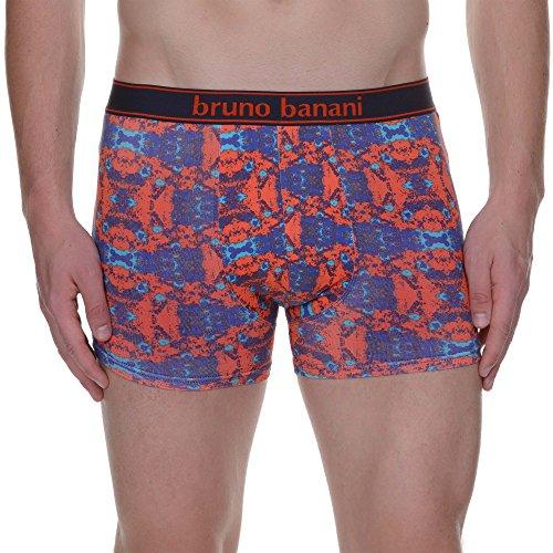 ... bruno banani Herren Boxershorts Short Stained, 2er Pack Mehrfarbig ( Orangerot/Lila/Aqua ...