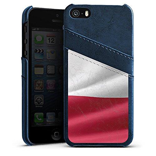 Apple iPhone 6 Housse Étui Silicone Coque Protection Drapeau Pologne Pologne Drapeau Étui en cuir bleu marine