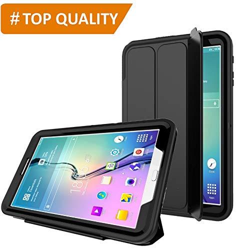 PROTECK Custodia per Samsung Galaxy Tab A 10.1' - Cover con【Pellicola Protettiva Integrata】+【Antiurto】+【Auto Veglia/Sonno】- Nero