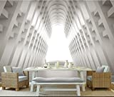 Mbwlkj Benutzerdefinierte Stereoskopischen 3D-Tapete Modernes Wohnzimmer Ideen Raum Abstrakt Foto 3D Tapete Non-Woven Extra Dicke Moderne Studie-450Cmx300Cm