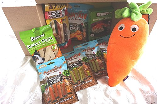 Paradise Pets THE ULTIMATE VEGAN VEGETARIAN DOG HAMPER FILLED WITH VEGAN TREATS VEGAN DOG CAKE BAKING KIT AND PLUSH CARROT TOY
