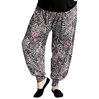 Nouvelle Collection Artsy Paisley Print Harem Red 28-30