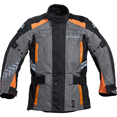 Motorradjacke Road Kinder Tour Textil Jacke 3.0 schwarz/grau 158-164