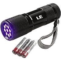 LE Ultraviolett LED UV Taschenlampe mit 9 LEDs 395nm, UV-Strahler, Handlampe, Prüfgerät, Fleckendetektor / Urindetektor für Haustiere wie Katze, Hund usw …