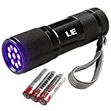LE Ultra Violet LED Flashlight/Blacklight Torch, UV LED Flashlight, 9 LED 395nm, Pet Urine & Stain Detector, 3 AAA Batteries Included, Find Stains on Clothes, Carpet or Rugs Bild 7