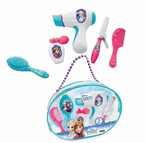 Smoby Toys- 320141- La Reine Des Neiges Sac Beauté, + 5 Accessoires Inclus, Sèche Cheveux Electronique 3032163201410
