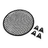 MagiDeal 1 Stück Subwoofer Abdeckung Schützer von Kerbe mit 4 Stück Montageclips - Schwarz -10-Zoll