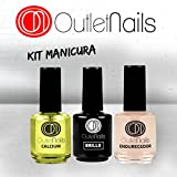 Kit Calcium para uñas 15ml + Endurecedor para uñas 15ml + Brillo 15ml uñas / UV/LED / Fácil de retirar / Outlet Nails Alta calidad / Esmaltado Permanente / uñas de gel