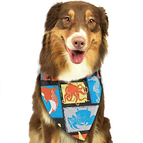 Muster Quallen Kostüm - Haifisch-Quallen-Krabben-Kraken-Dreieck Bandana-Schal-Zusätze für Haustier-Katzen und Hunde - Geschenke