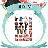 ALTcompluser ALTcompluser Kpop BTS Bangtan Boys Stickers Wasserdicht Aufkleber Vinyl Aufkleber für Laptop, Macbook, Gepäck, Skateboard (21 Stk)