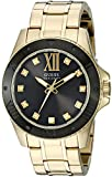Guess uomo U0721G2Strong gold-tone orologio con quadrante nero e diamante marcatori