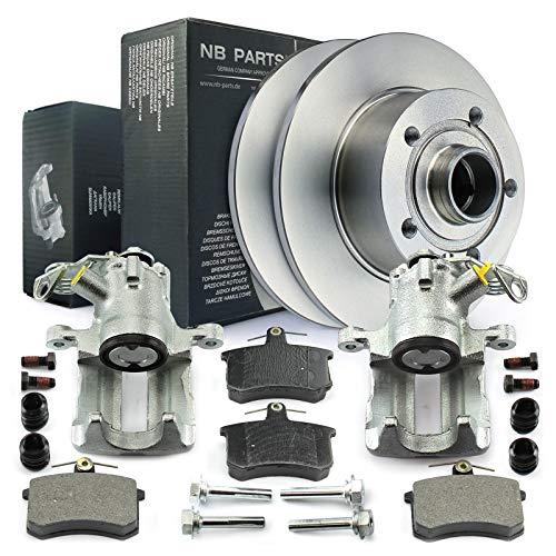 2x Bremssattel + Bremsscheiben + Bremsbeläge hinten NB PARTS GERMANY 10043374