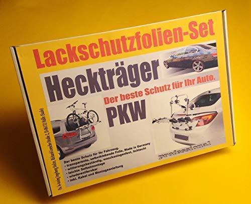 Lackschutzfolien-Komplett-Set, transparent, universal für alle gängigen Heckträger/Fahrradträger für PKW Limousine, Kombi, Cabrio, SUV