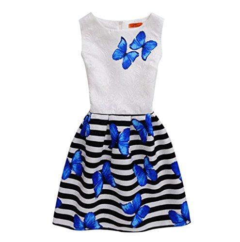 Bibao Baby Mädchen (0-24 Monate) Kleid blau blau 6 Jahre