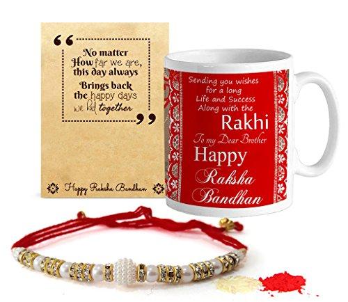 Tied Ribbons Rakshabandhan Gift For Brother Coffee Mug(325Ml) With Rakhi And Roli Chawal Pack