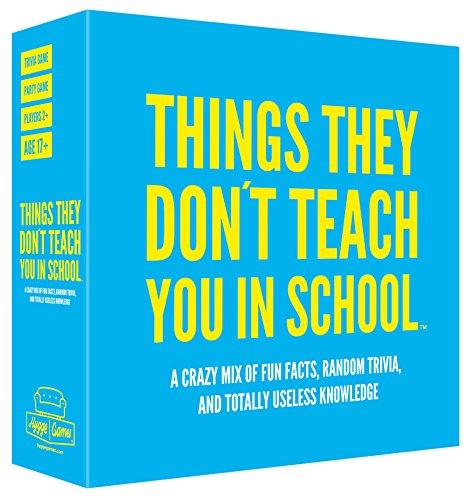 Things they donŽt teach you in school Cosas Que no te enseñan en la Escuela 21019Party-Juego de Cartas de Preguntas