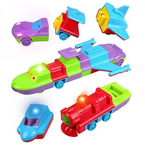 Jouets de Transport avec Lumière et Musique Special - 4PCS