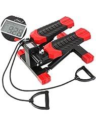 FEMOR Stepper Aerobic Step Aerobic Fitness Stepper per tonificare braccia e cosce Toner BilligerLuxus-Gradini Fitness con Display digitale e funi