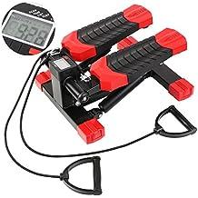 FEMOR Lady Stepper pour Femme Fitness Stepper Mini Stepper-Support avec Corde Elastique: 100KG