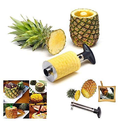 Itian Ananas Peeler en Acier inoxydable, Fruit Ananas Knife Slicer Cutter