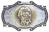 Brazil Lederwaren Gürtelschließe König Ludwig II 4,0 cm