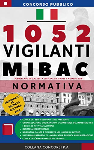 Concorso Pubblico 1052 Vigilanti MIBAC 2019: