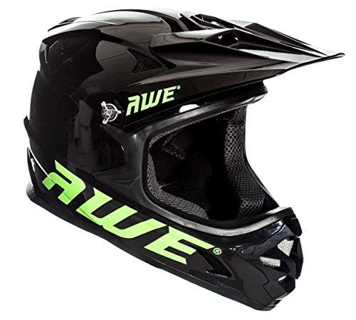 AWE® AWEBlast™ gratis 5 Jahr Crash Ersatz * BMX Downhill Helm schwarz Größe M 56-58 cm