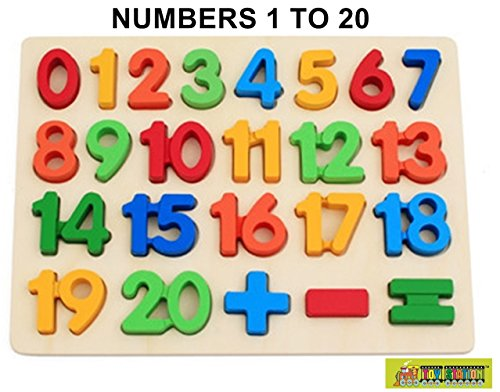 TOY STATION EDUCATIONAL WOODEN PUZZLE (NUMBERS 1-20)
