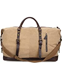 ALTOSY Large Canvas Travel Duffel Bags Holdall for Men Weekender Tote  Overnight Luggage Bag 93eb109b4d