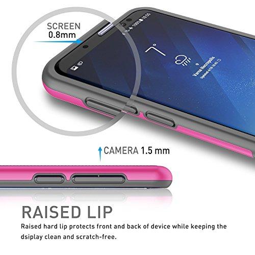 Samsung Galaxy S8 Hülle, Han Lucky Star Samsung Galaxy S8 Handyhülle, Ultra Dünn Case TPU+PC stoßfest Handytashe mit drei Farben Design Schmutzhülle für Samsung Galaxy S8 (Schwarz) Grau