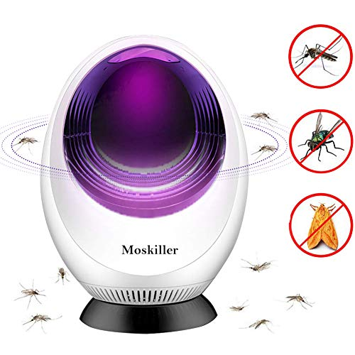 PINPOXE Lámpara Antimosquitos, Lámpara Camping Antimosquitos, Lámpara de Asesino del Larvas Mosquito al Aire Libre Portátil Noche Lámpara LED Zapper Mosquito Recargable Impermeable para Acampar