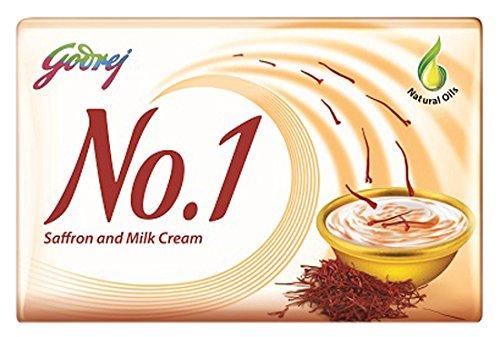 Godrej No.1 Kesar and Milk Cream Soap, 100g (Buy 4 Get 1 Free)