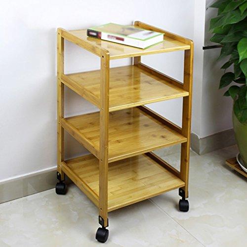 SUBBYE Étagères de rangement Bambou Simple Moderne Chevet Cabinet Style Européen Mini Armoire De Rangement Armoires Chambre Chevet Cabinet ( taille : 38cm*36cm*78cm )