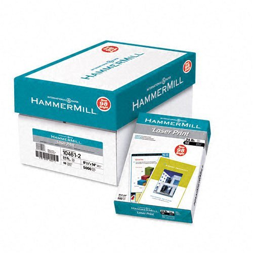Hammermill : Laser Print Copy/Laser Paper, White, 98 Brightness, 24lb, Legal, 500 Sheets -:- Sold as 2 Packs of - 500 - / - Total of 1000 Each by Hammermill (Lb Laser 24 Hammermill Print)