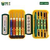 BEST TOOL - BST-8926 - Tragbares Universal Feinmechaniker Werkzeug-Set / Schraubendreher magnetisch - für Smartphone- / Tab- / Camera- / Laptop- / Uhren- / Computer- / Drucker-Reparatur - 10 Teile