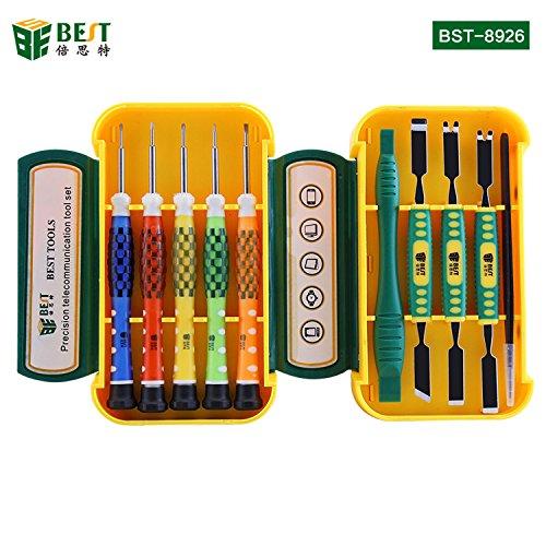 BEST TOOL - BST-8926 - Tragbares Universal Feinmechaniker Werkzeug-Set/Schraubendreher magnetisch - für Smartphone- / Tab- / Camera- / Laptop- / Uhren- / Computer- / Drucker-Reparatur - 10 Teile (Computer-magnetischen Schraubendreher)