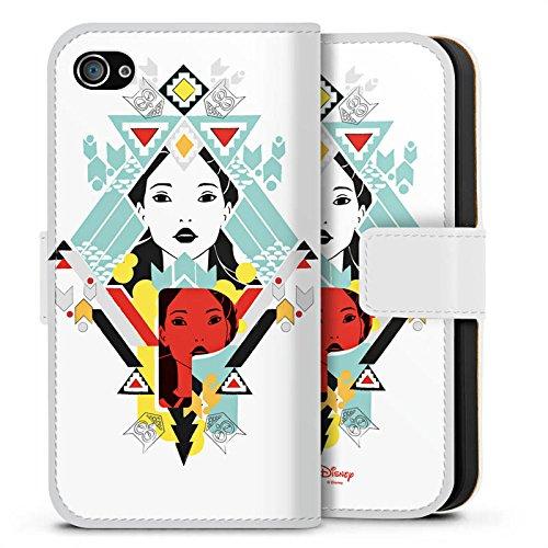 Apple iPhone X Silikon Hülle Case Schutzhülle Disney Pocahontas Merchandise Geschenk Sideflip Tasche weiß
