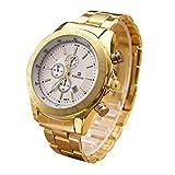Yogogo Herren Quartz Analog Armbanduhr, 1 Cent Artikel | Legierungsband | Dekoration | Geschenk | Edelstahlgehäuse | Quarzwerk | 1.9cm Bandbreite | 24cm Bandlänge (Silber)