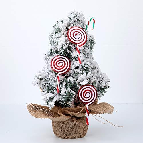 Hicarer 6 Piezas Adorno de Piruleta de Navidad Adorno de /Árbol de Navidad Decoraciones de Navidad Blancas y Rojas para Fiestas de Casa